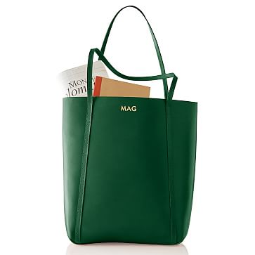 Westbury Leather Tote, Racing Green
