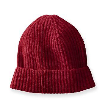 Cashmere Skull Cap, Red