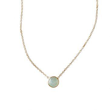 Ariel Gordon Stone Necklace, Aquamarine