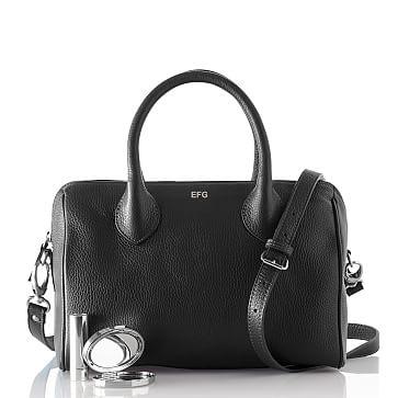 Daniela Doctor's Handbag, Crossbody, Small, Black