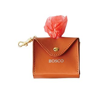 Italian Leather Business Bag Pouch, Orange