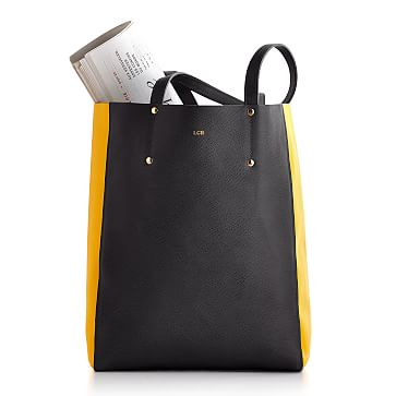 Piazza Tote Bag, Gray and Yellow