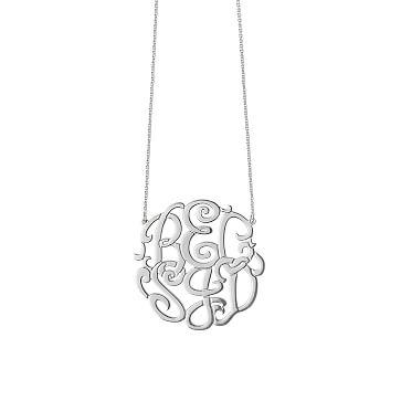 Izara Cutout Necklace, 6 Letters, 16