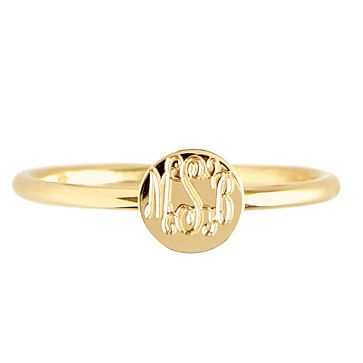 Rocha Ring, Round, Size 7, Gold