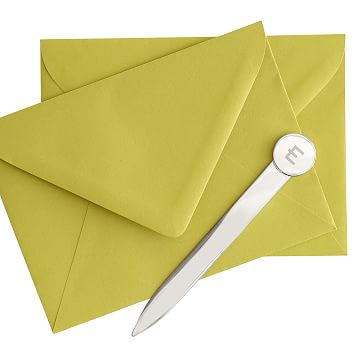 Circular Handled Letter Opener, Nickel