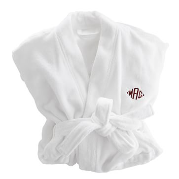 Turkish Hydro Cotton Kimono Bathrobe, White, Extra Large