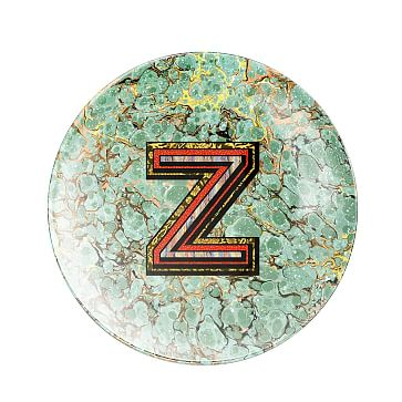 Alphachrome Glass Paperweight, Z
