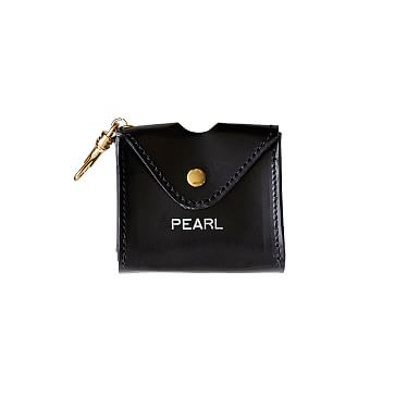 Italian Leather Business Bag Pouch, Black