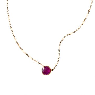 Ariel Gordon Stone Necklace, Ruby