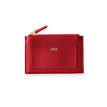 Vivid Zip Card Case, Red