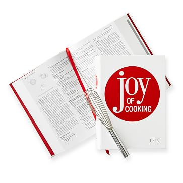 Leather-Bound Book, The Joy of Cooking, Red and White