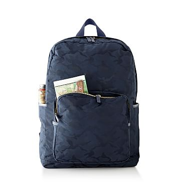 Camouflage Backpack, Navy