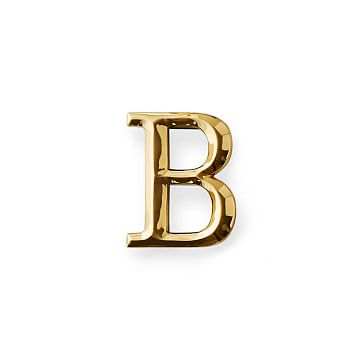 4-inch Initial Door Knocker, Brass, B