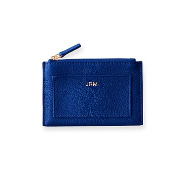 Vivid Zip Card Case, Cobalt