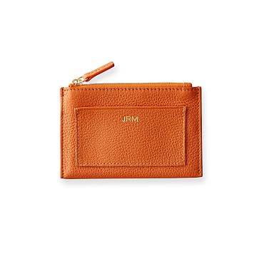 Vivid Zip Card Case, Orange
