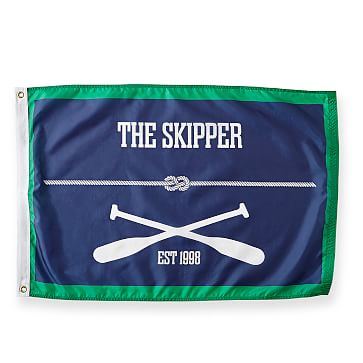 Personalized Nylon Flag, 3 feet x 5 feet, Paddle, Navy and Green