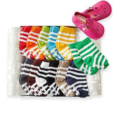 Baby Sock Set, 0-12 months, Set of 12, Stripe Multi-Colors