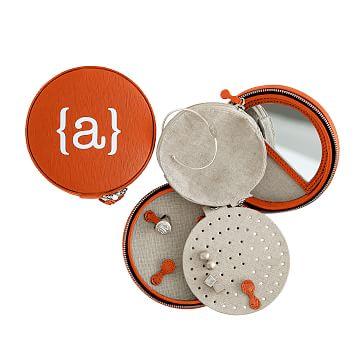 Colorfield Travel Jewelry Case, Orange