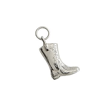 Classic Charm, Sterling Silver, Cowgirl Boot