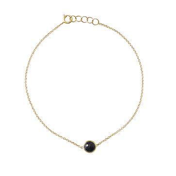 Ariel Gordon Semi-Precious Stone and 14 Karat Gold Bracelet, Onyx