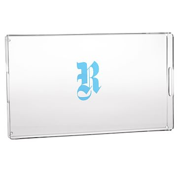 Acrylic Serving Tray, Large, Graphic - Monogrammed