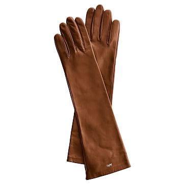 Women's Italian Leather Opera Glove, Size 7, Small, Caramel