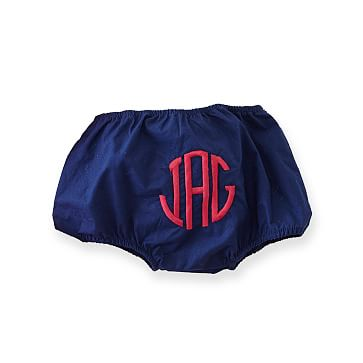 Baby Diaper Cover, 3-6 months, Monogrammed, Navy