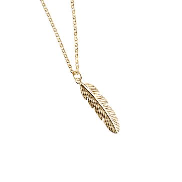 Feather of Positivity Necklace, 16-18