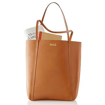 Westbury Leather Tote, Tan