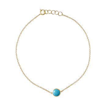 Ariel Gordon Semi-Precious Stone and 14 Karat Gold Bracelet, Turquoise
