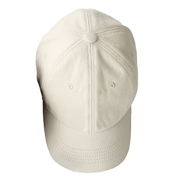 Adjustable Twill Baseball Hat with Patch, A, Natural with Navy