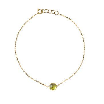 Ariel Gordon Semi-Precious Stone and 14 Karat Gold Bracelet, Peridot