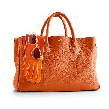 The Elisabetta Slouch Handbag, Tangerine