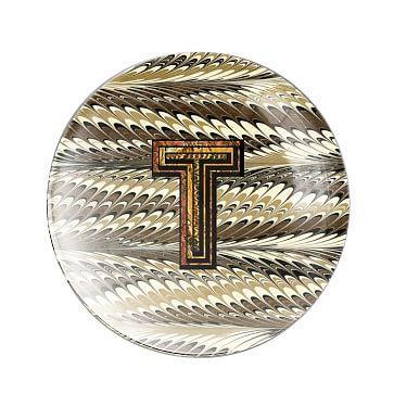 Alphachrome Glass Paperweight, T