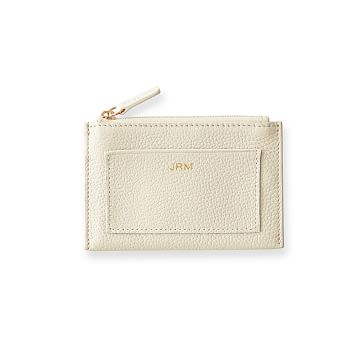 Vivid Zip Card Case, White