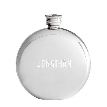 Pewter Circle Flask, Personalization