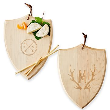 Maple Wood Cheese Serving Board, Maple, 12 inches