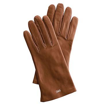 Women's Italian Leather Classic Glove, Size 6.5, Extra-Small, Caramel