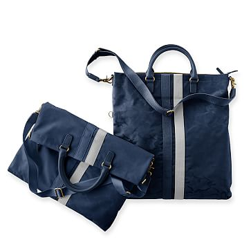 Camouflage Foldover Tote, Navy