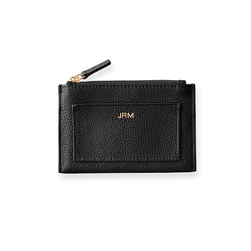Vivid Zip Card Case, Black