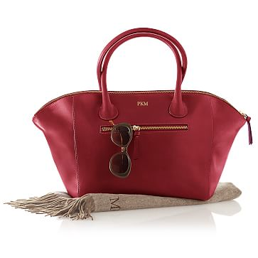Crescent Handbag, Red