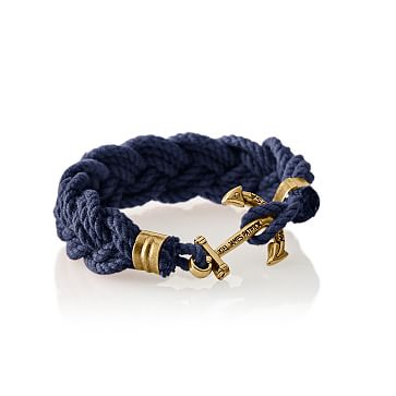 Turks Head Bracelet, Medium, Navy