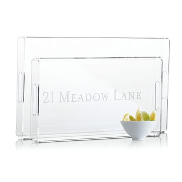 Acrylic Serving Tray, Small - Personalized