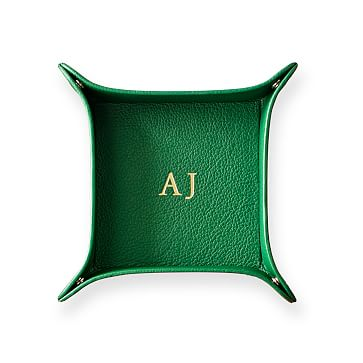 Classic Leather Catchall, Medium, Kelly Green