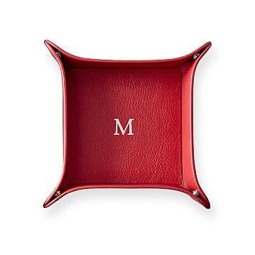 Classic Leather Catchall, Medium, Red