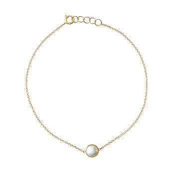 Ariel Gordon Semi-Precious Stone and 14 Karat Gold Bracelet, Pearl