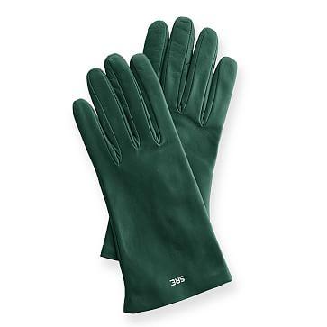 Women's Italian Leather Classic Glove, 6.5, Extra-Small, Racing Green