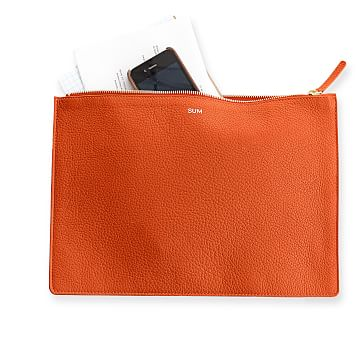 Vivid Zip Pouch, Orange