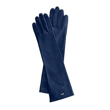 Women's Italian Leather Opera Glove, Size 6.5, Extra-Small, Navy
