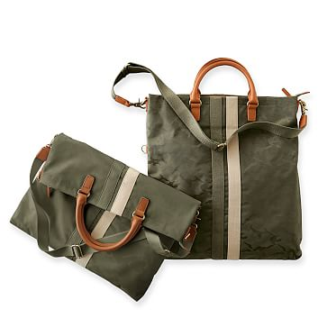 Camouflage Foldover Tote, Green